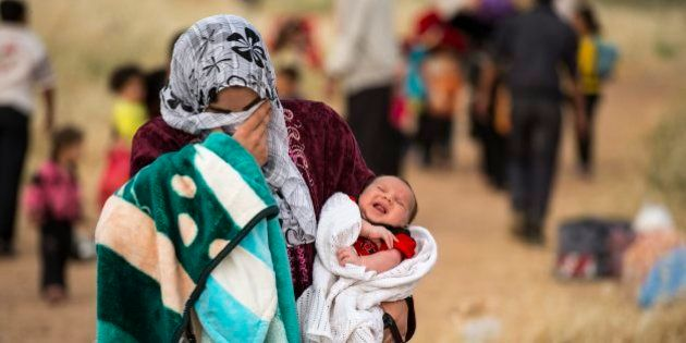 A young mother crosses the border from Syria and becomes a refugee. She carries her one-month-old son,...