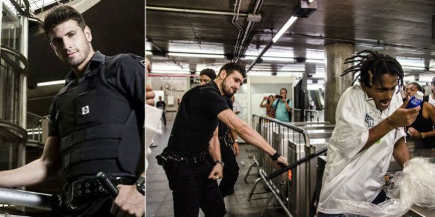 'Segurança gato' do metrô de SP agride estudante durante confusão após protesto na Estação Sé