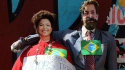 Judas recebe folga e bonecos de Dilma e Lula são malhados na