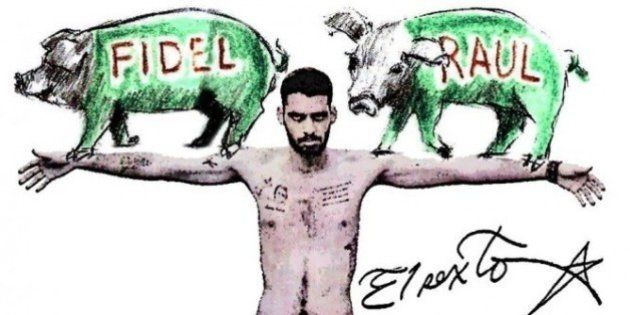 Grafiteiro está preso há 9 meses em Cuba por escrever 'Fidel' e 'Raul' em dois