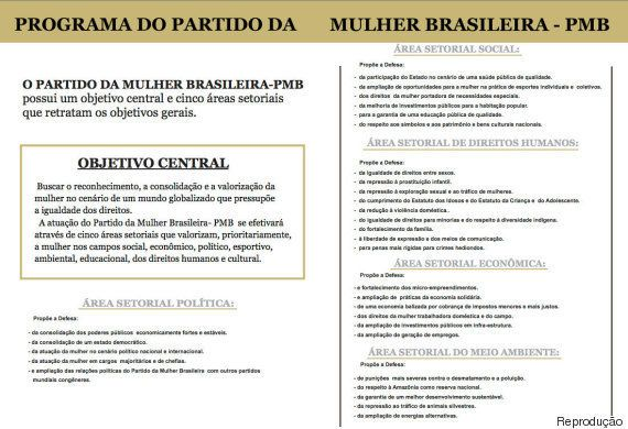 Pró-união gay, contra o machismo e o aborto: Partido da Mulher Brasileira é o 35º do Brasil após decisão...