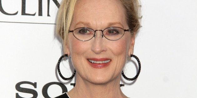 NEW YORK, NY - AUGUST 03: Meryl Streep attends 'Ricki And The Flash' New York Premiere at AMC Lincoln...