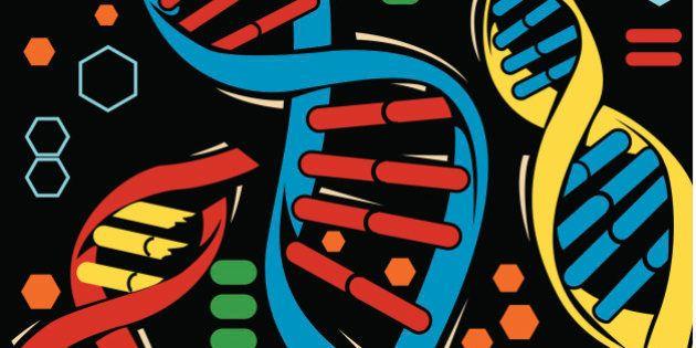 DNA strands,