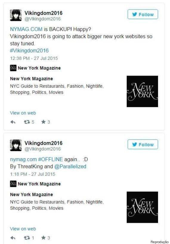 Site da New York Magazine foi atacado por hackers após divulgar capa com vítimas de Bill