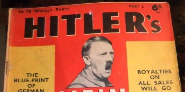 A friend of mine got this old edition of Mein Kampf at an auction. Produced in 1940, and still surprisingly...
