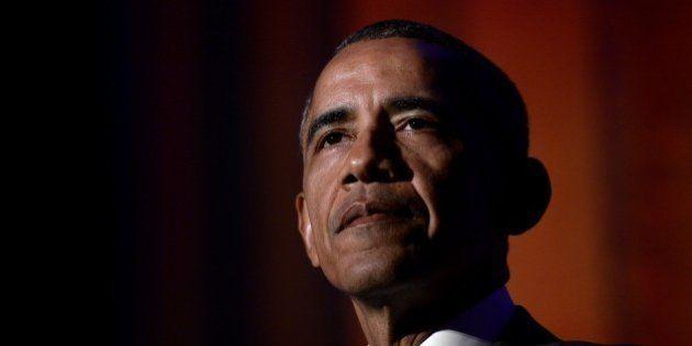 WASHINGTON, DC - MARCH 28: (AFP OUT) U.S. President Barack Obama delivers the keynote address at the...