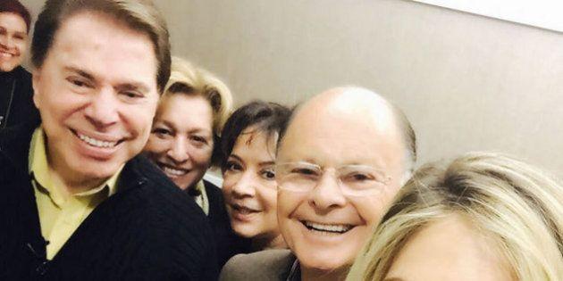 Selfie registra visita de Silvio Santos a Edir Macedo no Templo de Salomão, da Igreja