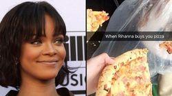 Se você tiver sorte, pode ganhar uma pizza de Rihanna com seu ingresso de