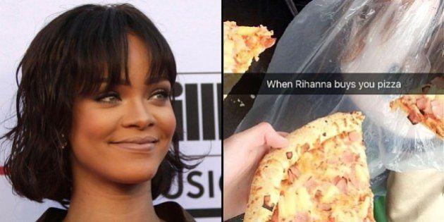 Rihanna envia pizzas e toalhas para fãs ingleses na fila de ingressos para o 'ANTI World