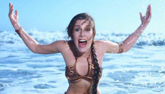 Ensaio de 1983 mostra a princesa Leia na praia para divulgar 'Star Wars' na Rolling