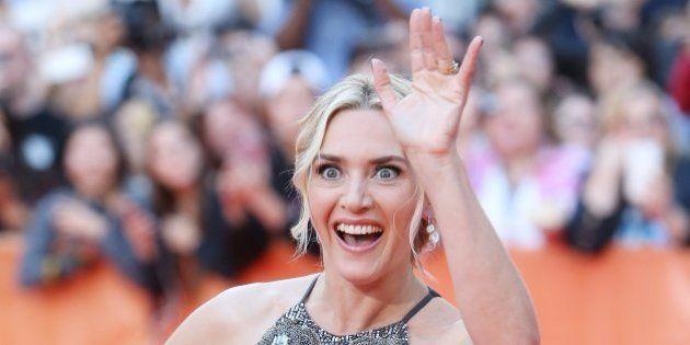TORONTO, ON - SEPTEMBER 14: Kate Winslet arrives at 'The Dressmaker' premiere during 2015 Toronto International...