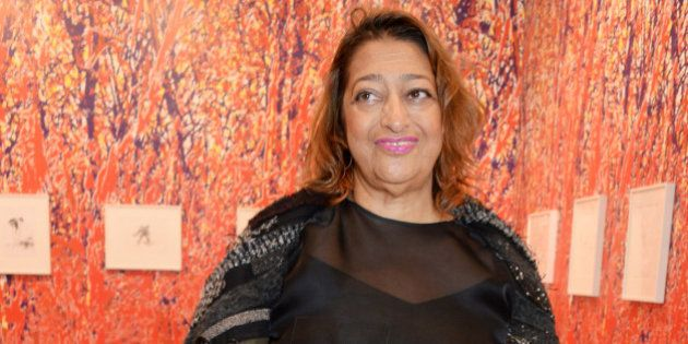 LONDON, ENGLAND - OCTOBER 14: Zaha Hadid attends VIP Preview of the Frieze Art Fair 2014 in Regent's...