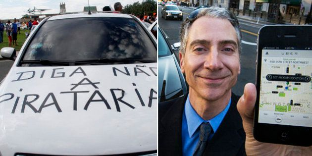Taxistas e representante do Uber se reúnem com o governador para tentar acordo em