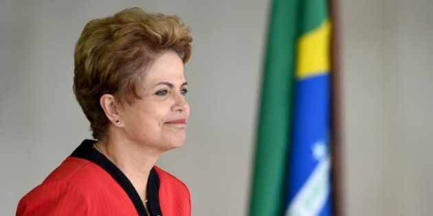 Brazil's President Dilma Rousseff gestures during the welcome ceremony of the the MERCOSUR Summit of...