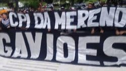Gaviões da Fiel protesta por 'CPI da merenda'. E PM vasculha sede da