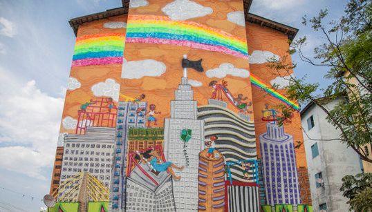 Como o grafite ajuda o duro dia a dia de uma comunidade em São