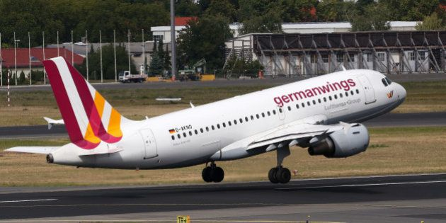 BERLIN, GERMANY - SEPTEMBER 09: An airplane belonging to the airline Germanwings, Lufthansa's low-cost...