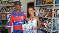 Ela arrecadou livros e fez uma biblioteca comunitária no sertão
