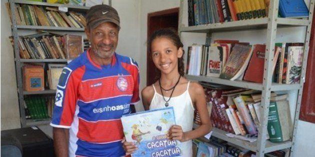 Uma garota de 12 anos arrecadou livros e fez uma biblioteca comunitária no sertão