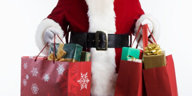 Santa Carrying Shopping