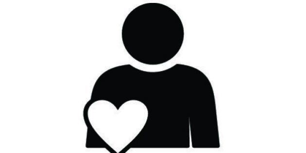 Person with heart symbol. Involvement, engagement, participation. Involvement concept. Can be used for...