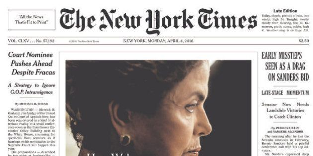 Capa do New York Times destaca a crise política no