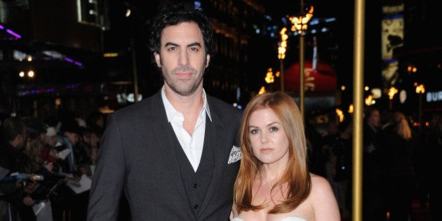 LONDON, ENGLAND - DECEMBER 05: Actors Sasha Baron Cohen and Isla Fisher attends the 'Les Miserables'...