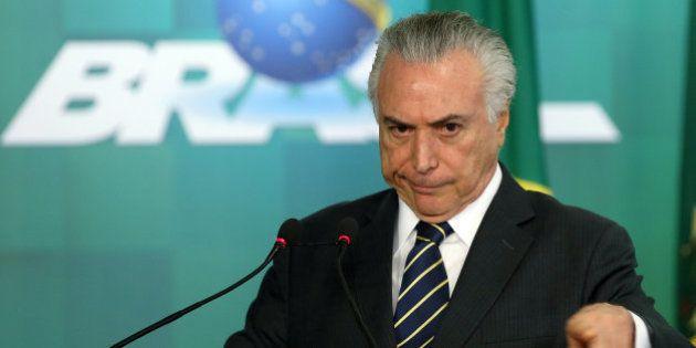 Michel Temer diz que não sabia de propina a caciques do PMDB e reclama de protestos contra