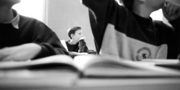 FRANCE - CIRCA 1992: School in Ville d'Avray, France in 1992 - 5th class. (Photo by Valerie WINCKLER/Gamma-Rapho...