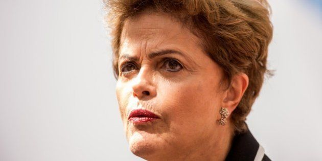 Brazilian President Dilma Rousseff speaks to journalists on the second day of a European Union and the...