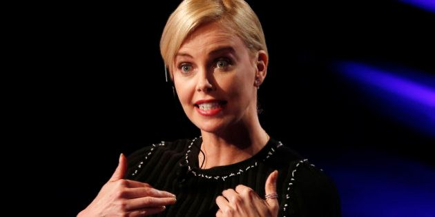 Actress Charlize Theron attends the Italian State RAI TV