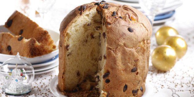 cut panettone - a traditional Italian