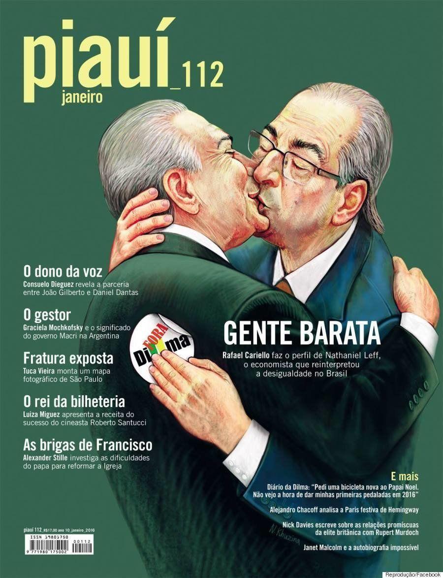 Esta capa da Piauí mostra que 2015 foi mesmo um ano de loucura na política