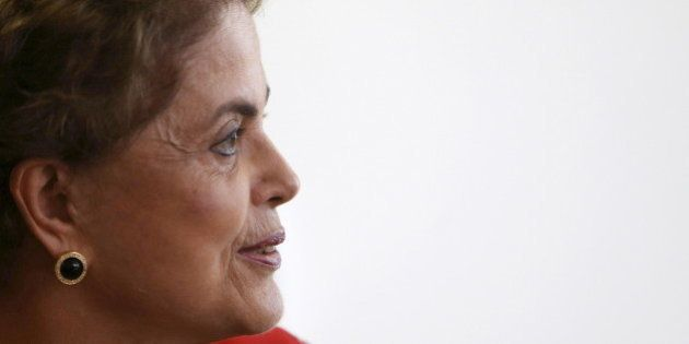 Brazil's President Dilma Rousseff works at her office in Brasilia, Brazil, March 29, 2016. REUTERS/Adriano