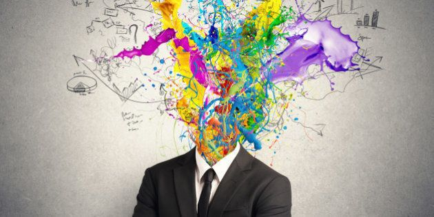 Concept of creative mind with colorful