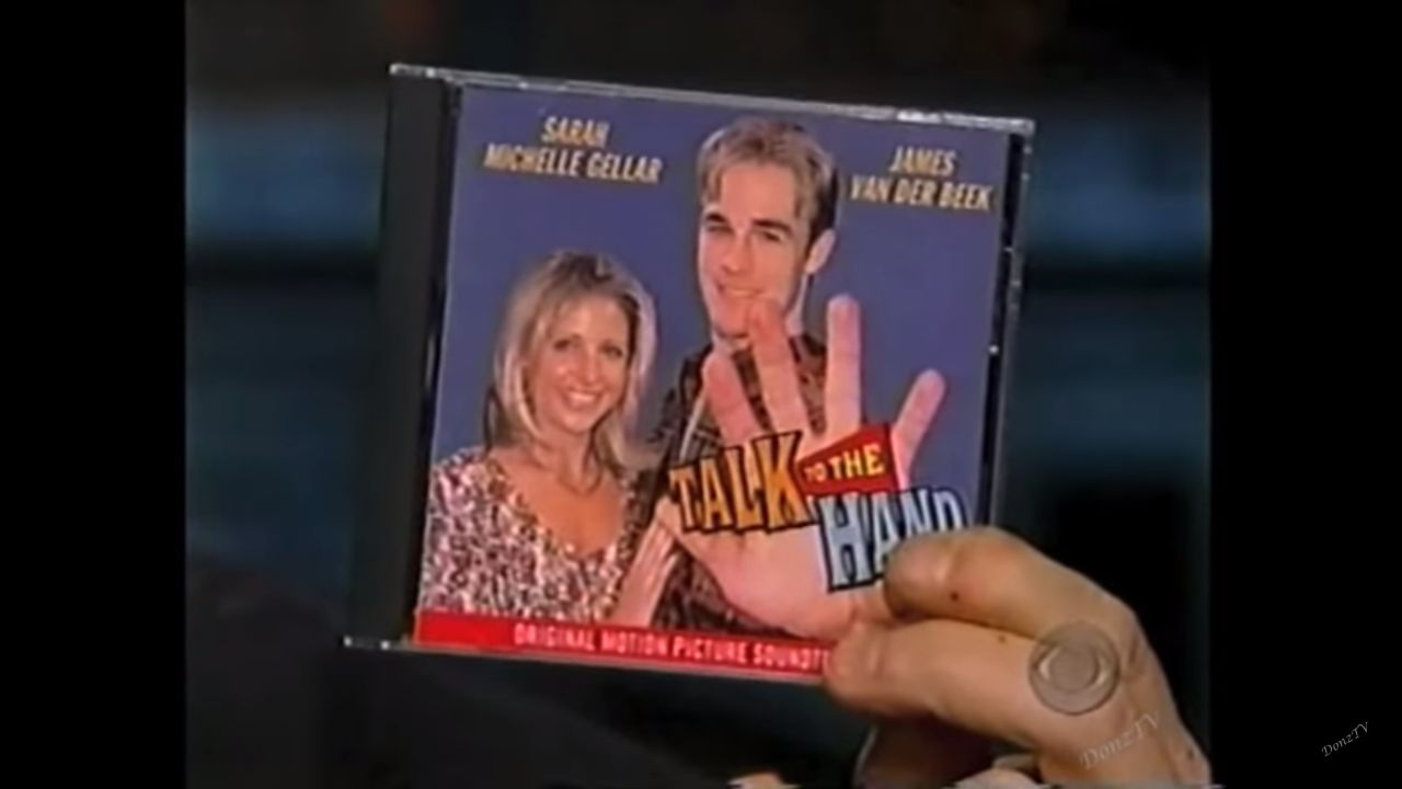 "The CD for the fake movie ""Talk to the Hand."""