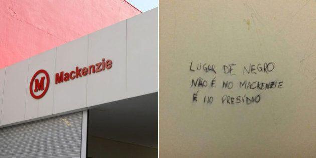 Pichação racista causa revolta entre alunos da Universidade Mackenzie em São