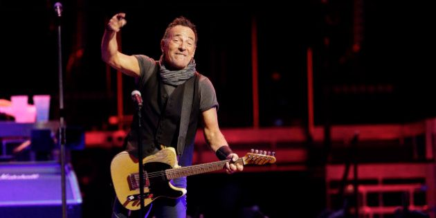 Bruce Springsteen & The E Street Band perform Tuesday, Feb. 23, 2016, in Cleveland. (AP Photo/Tony