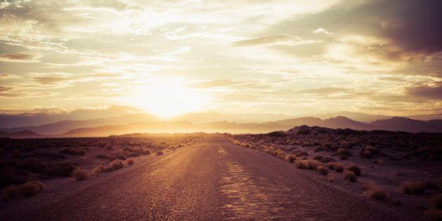 Empty road in remote