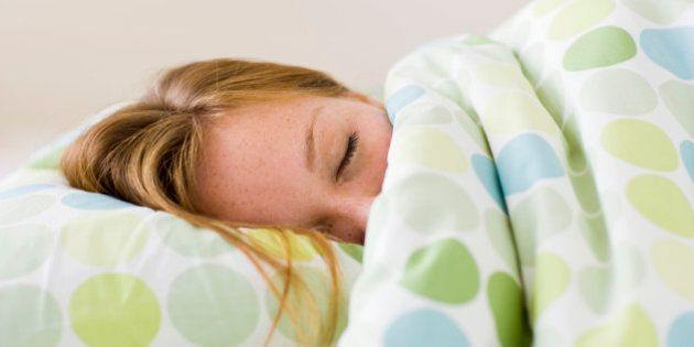 Young woman asleep in