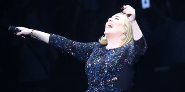 ST PAUL, MN - JULY 05: Singer Adele performs during the opening night of her North American concert tour...