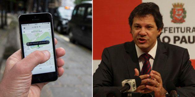 Fernando Haddad propõe que Uber funcione em SP como 'táxi virtual' preto e com preço por