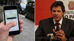 'Táxi virtual' é a aposta de Haddad para regulamentar a Uber em