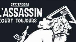 Capa da Charlie Hebdo estampa charge de Deus com roupa suja de