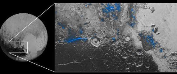 Plutão tem céu azul e água congelada, descobrem