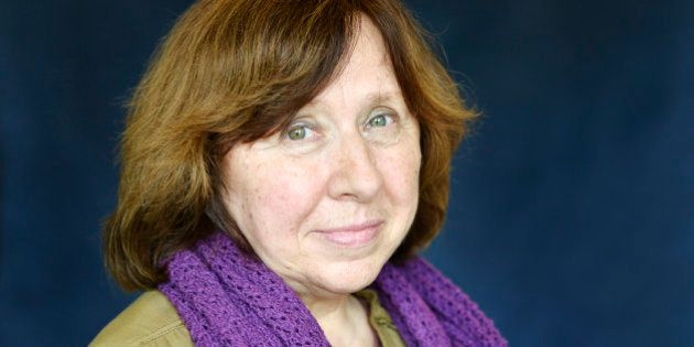 LYON, FRANCE - MAY 22: Russian writer Svetlana Alexievich poses during a portrait session held on May...