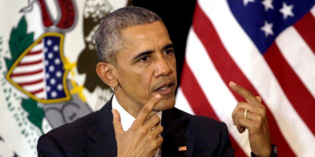 President Barack Obama responds to questions at the University of Chicago Law School, where he taught...
