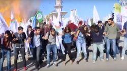 Vídeos e fotos mostram explosão em marcha por paz na