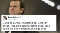 Paes critica 'mau humor' de cariocas e diz a morador: 'Se muda,