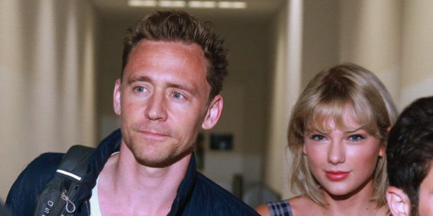 SYDNEY, AUSTRALIA - JULY 8: (EUROPE AND AUSTRALASIA OUT) Actor Tom Hiddleston and singer Taylor Swift...